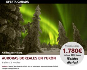 Viaje a Canada Auroras Boreales