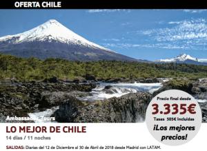 Viaje organizado a Chile